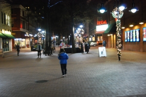 Charlottesville Downtown Mall at Night